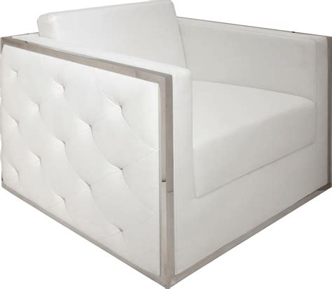 boxer armchair white modern digs furniture