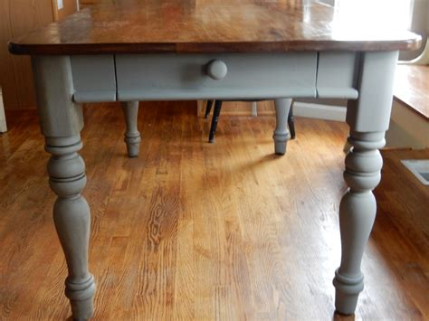 stained table top painted legs a table restoration refinishing with chalk paint