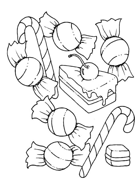 free coloring pages of candy