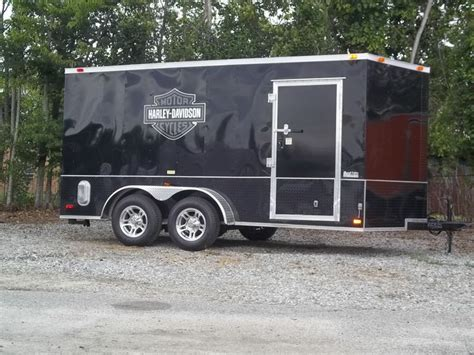 Harley Davidson Trailer Decals by Black On Black Atp Enclosed Trailer With Harley Davidson