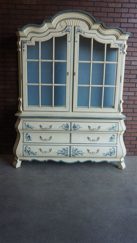 french country inspired rococo kitchen cabinets by graber drexel country french style hutch china cabinet on