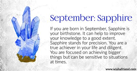 birthstone color for september your birth is september