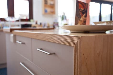 exacting joinery detail highlights beautiful birch kitchen