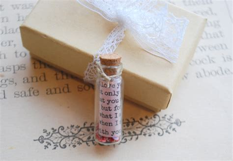 Letter Jar Note In A Jar Letter Anniversary Gift Bottle