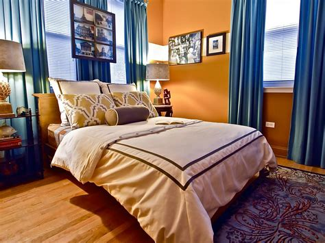 blue and orange bedroom photo page hgtv