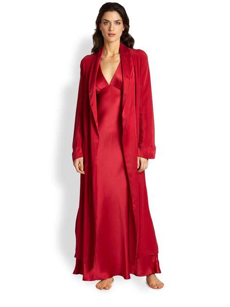 Donna Robe donna karan silk robe in lyst