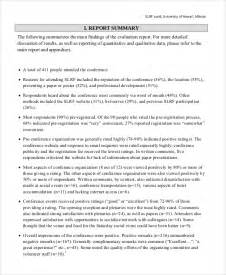 Conference Report Writing Format by 12 Sle Evaluation Report Free Sle Exle Format