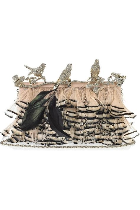 Valentino Feather Clutch valentino embellished feather clutch