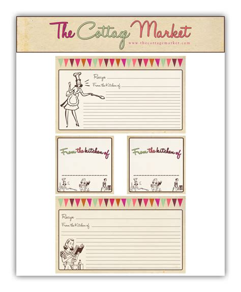 vintage recipe card template free printable recipe cards and more part 2 thankful