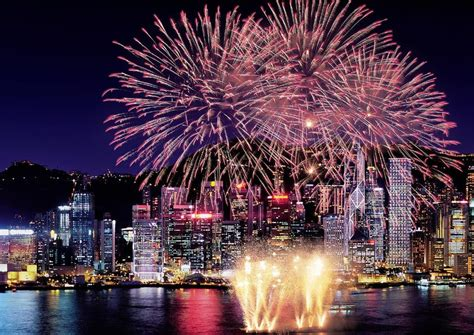 live satellite feed from hong kong on new year celebrations