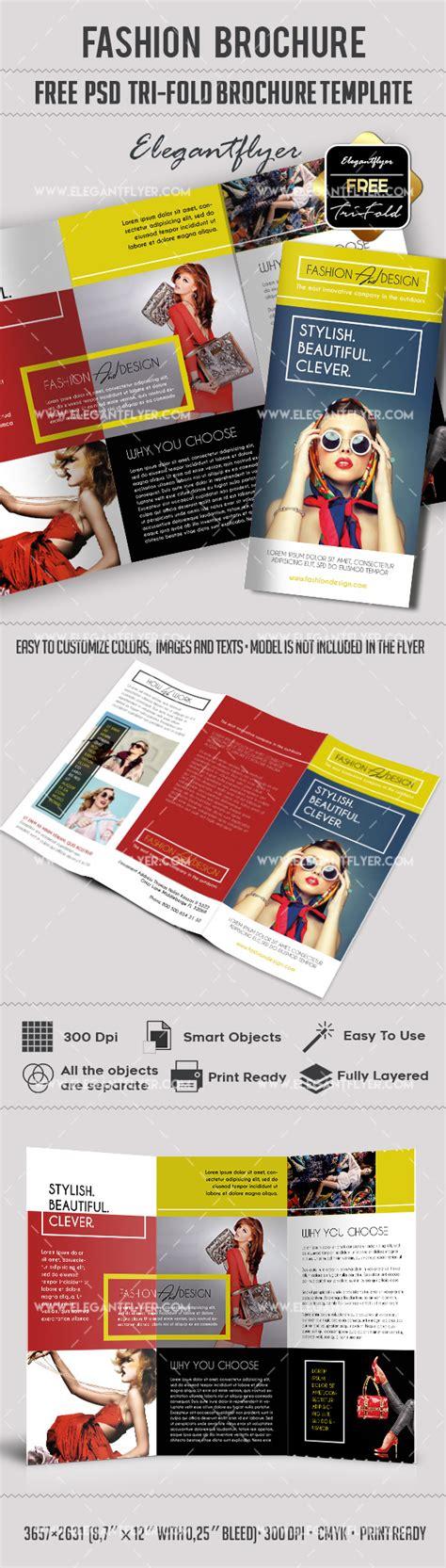 Fashion Free Tri Fold Psd Brochure Template By Elegantflyer Tri Fold Brochure Template Psd Free
