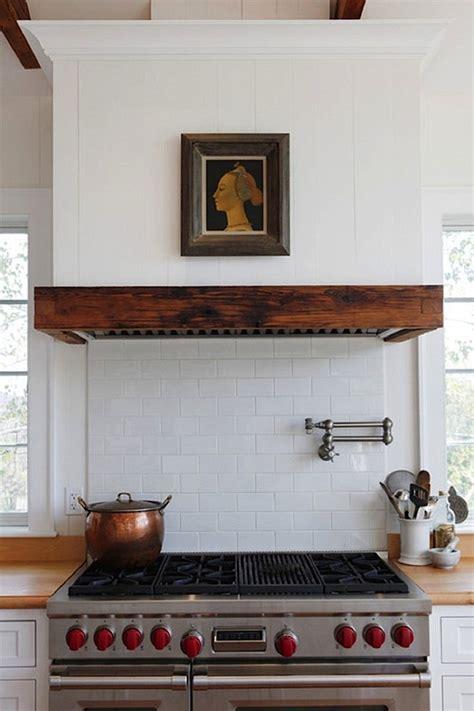 rustic wood clad vent hoods remodelista