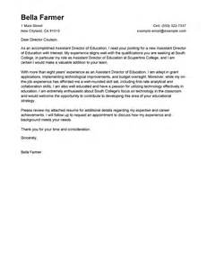 assistant director cover letter examples education cover