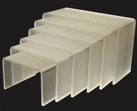 acrylic risers shelf displays anyone interested