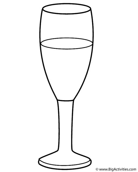 chagne glass coloring page new years