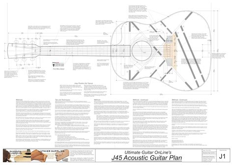 Make Your Own Blueprint Online gibson j45