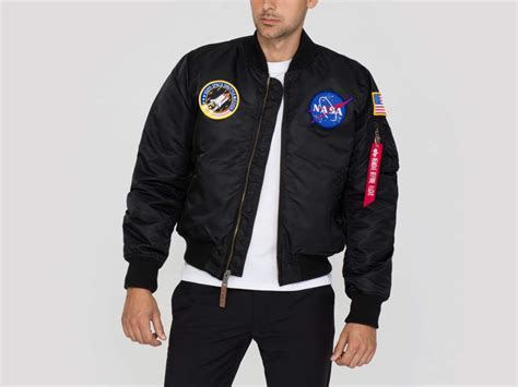 nasa bomber black ma 1 vf nasa bomber fliegerjacken alpha industries