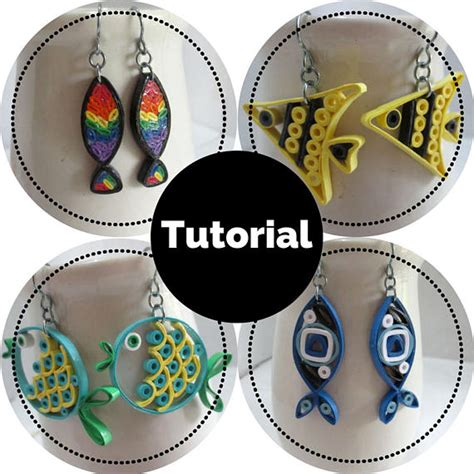 quilling earrings tutorial pdf fish earrings diy tutorial for paper quilled jewelry pdf