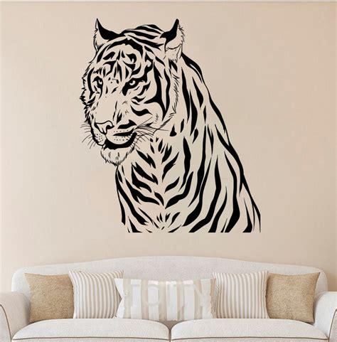 cute tiger leopard waterproof wall sticker home decor online get cheap tiger bedroom decor aliexpress com