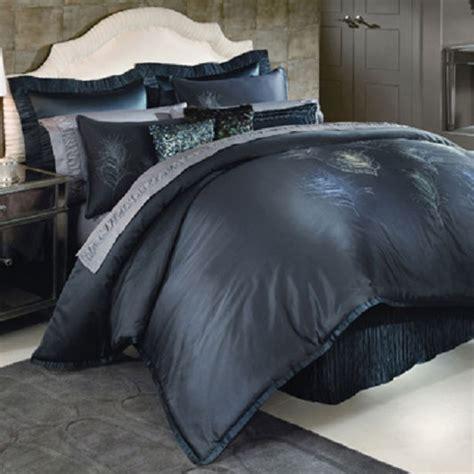 nicole miller bedroom furniture nicole miller feathers comforter set cal king blue peacock