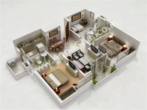 floor plan 3d apnaghar house design complete architectural solution