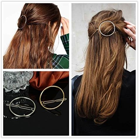 Sale Hair Pin Kepala Polos akoak hollow hoop circle geometric metal hair clip bobby pin ponytail holder hair
