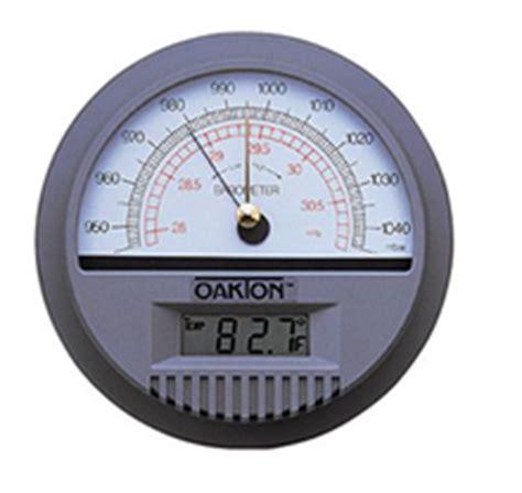 oakton wall mounted barometer  temperature