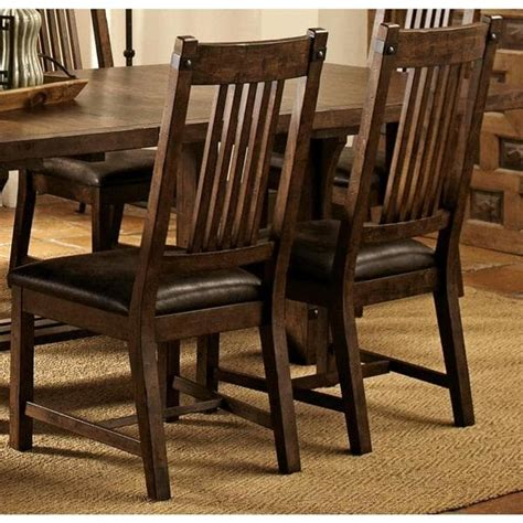 mission style dining chair rimon solid wood mission style rustic dining chairs set of 2 free shipping today overstock