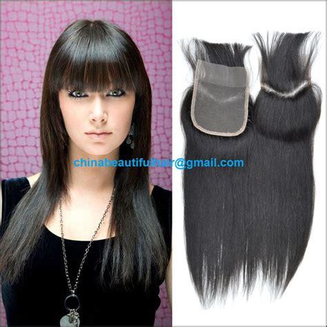 brazilian hair bang track 16 quot top lace closure with bang fringe brazilian virgin remy