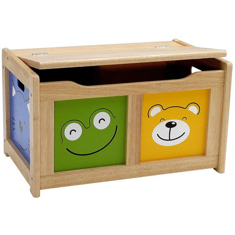 Toys Box 5 childrens four friends wooden storage chest by pintoy