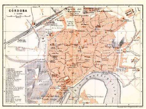 cordoba map map of c 243 rdoba in 1899 buy vintage map replica poster