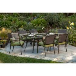 Providence 7 piece patio dining set green seats 6 walmart com