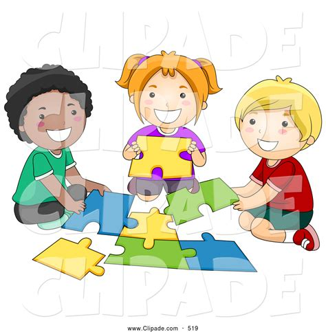 more on america s puzzle workers without jobs bosses clip art of diverse school children assembling a puzzle by