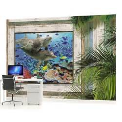 dolphins fish underwater sea photo wallpaper wall mural shoal of fish wall mural photo wallpaper fish coral reef