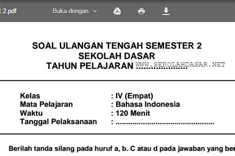 Superbook Ulangan Harian Kelas 3 Sd Mi soal uts bahasa indonesia kelas 4 sd semester 2