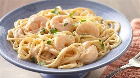 que cocinar con pasta pasta con salsa cremosa de camarones quericavida