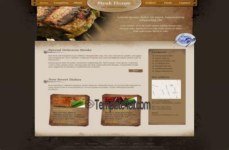 css layout restaurant steak restaurant css template download