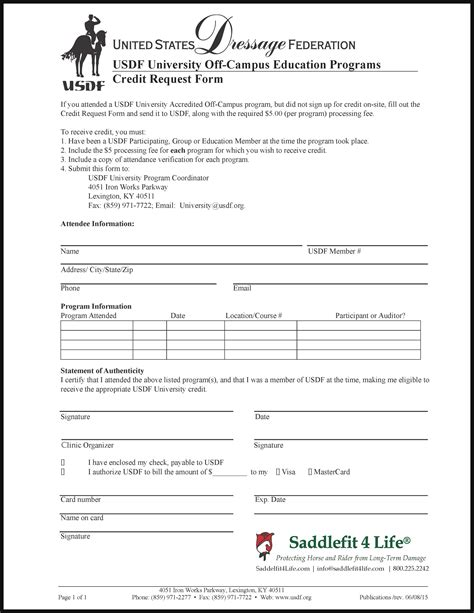 Credit Request Form Usdf Credit Request Form Schleese