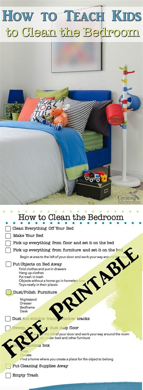 how to clean my bedroom teach kids to have a clean room bedroom cleaning printable