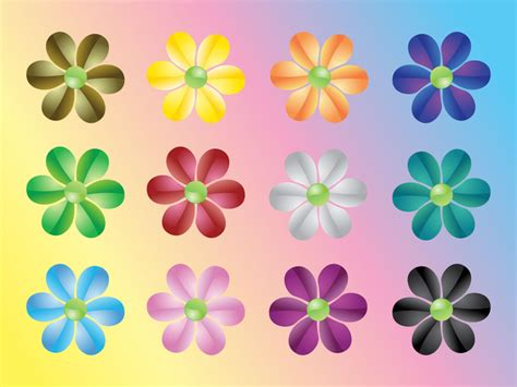 colorful flower design 19 colourful flower vector images vector colorful