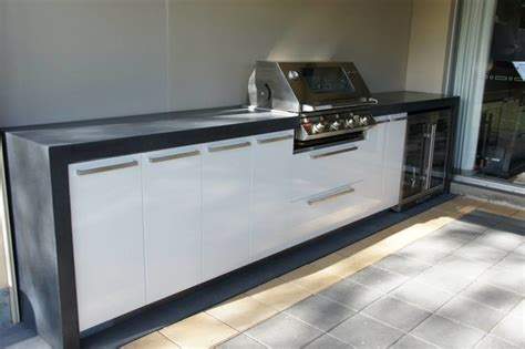 Outdoor Kitchens By Design by Outdoor Kitchen Polished Concrete Benchtop With