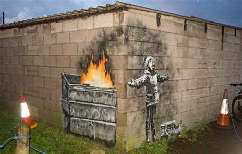 banksy confirms hes   painting spotted  wales