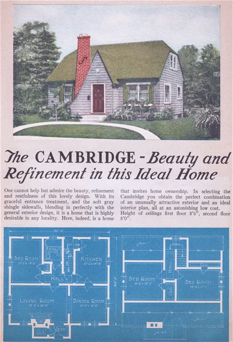 Cottage House Pictures The Cambridge Modern English Cottage Style 1935 Lewis