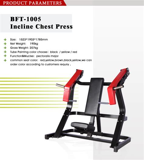 hammer strength incline bench machine bft1005 incline chest press machine bft fitness equipment