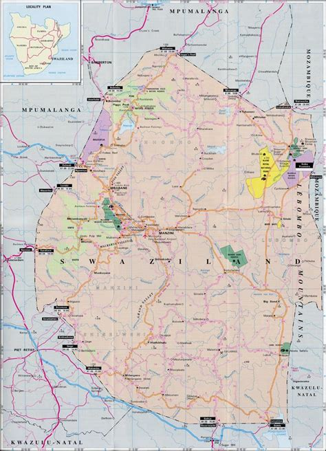 swaziland map maps of swaziland map library maps of the world