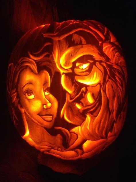 jack o lantern templates disney beauty the beast pumpkin disney halloween pumpkins