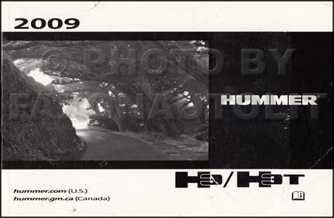 2009 hummer h3 h3t owner s manual original
