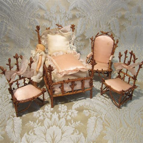 chambre de nuit miniature pine twig chambre de nuit furniture set for doll display from mllebereux on ruby