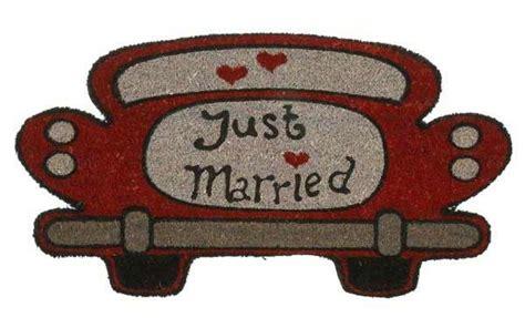 felpudo en ingles felpudo con dise 241 o de coche y mensaje recien casados