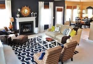 navy blue living room navy blue living room love the rug gold accents bamboo